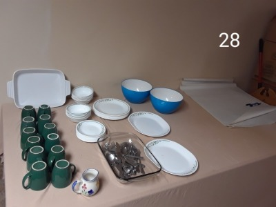 12 pc Corel Dinner dishes
