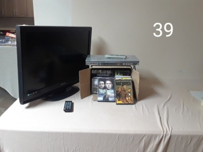 32 inch screen TV, DVD player
